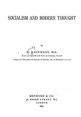 Socialism and Modern Thought PDF