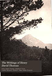 The Writings of Henry David Thoreau: Volume 3