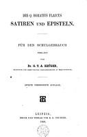 Des Q  Horatius Flaccus Satiren und Episteln PDF
