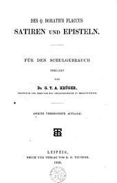 Des Q. Horatius Flaccus Satiren und Episteln