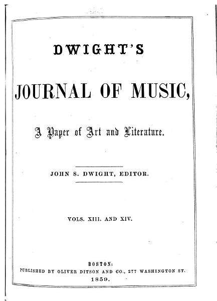 Download Dwight s Journal of Music Book