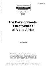 The Developmental Effectiveness of Aid to Africa