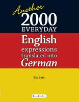 Another 2000 Everyday English Expressions Translated Into German PDF