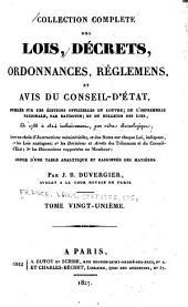 Collection complète des lois, décrets d'intérêt général, traités internationaux, arrêtés, circulaires, instructions, etc: Volume21