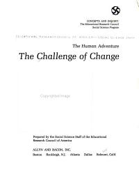 The Human Adventure The Challenge Of Change Book PDF
