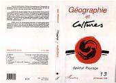 Géographie et cultures n°13: Spécial paysage