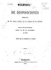 Coleccion de disposiciones publicadas en la parte oficial de la Gaceta de la Habana, desde el 21 de set hasta el 31 de diciembre de 1854