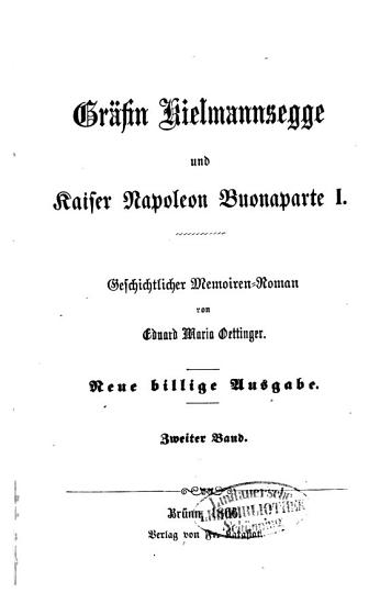 Gr  fin Kielmannsegge und Kaiser Napoleon Buonaparte I PDF
