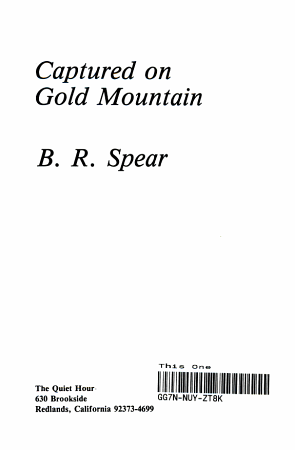 Captured on Gold Mountain PDF