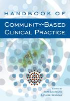 Handbook of Community Based Clinical Practice PDF