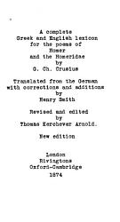 A Complete Greek and English Lexicon for the Poems of Homer and the Homerid   PDF