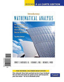 Intro Math Analysis for Business  Economics  and the Life and Social Sciences  Books a la Carte Edition PDF