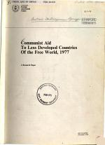 Communist Aid to Less Developed Countries of the Free World, 1977