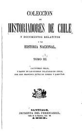 Coleccíon de historiadores de Chile y documentos relativos a la historia nacional: Volúmenes 3-5