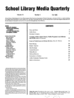 School Library Media Quarterly PDF