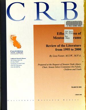 Effectiveness of Mentor Programs PDF