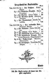 Des Ritters Carl von Linné vollständiges Natursystem: Th. Von den Vögeln