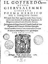 Il Goffredo, overo Gerusalemme liberata, poema heroico del Sig. Torquato Tasso...