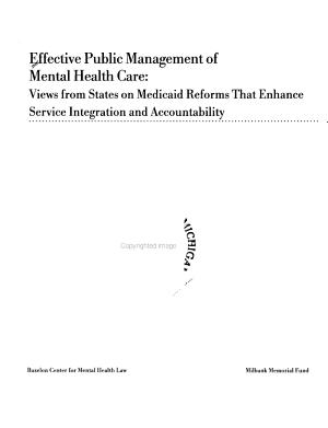 Effective Public Management of Mental Health Care PDF