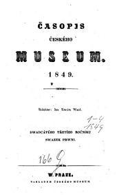 Časopis Českého Musea: Svazek 23