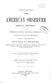 American Observer Medical Monthly: Volume 17