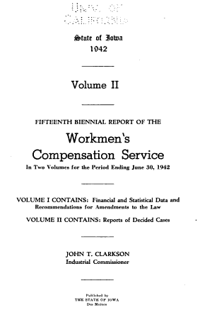 Biennial Report of the Workmen's Compensation Service