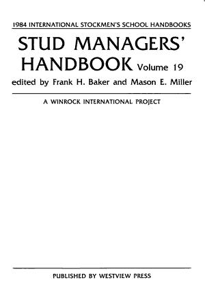Stud Managers  Handbook PDF