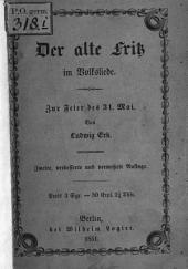 Der alte Fritz im Volksliede