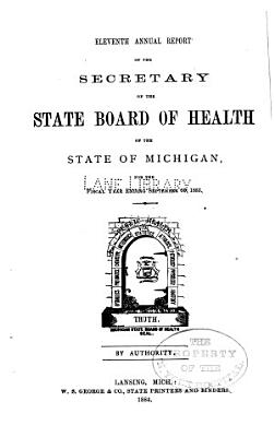 Annual report of the Commissioner of the Michigan Department of Health for the fiscal year ending     1883 PDF