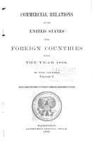 Commercial Relations of the United States with Foreign Countries During the Years     PDF
