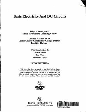 Basic Electricity and DC Circuits PDF