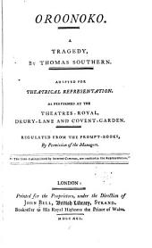 British Theatre: Oroonoko, by Thomas Southern. 1791. Lady Jane Gray, by N. Rowe. 1791. Edward the Black prince, by W. Shirley. 1791