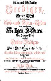 Alte Leyer Auf Ein Neues angestimmet: Enthaltet kurtze Lob- und Ehren-Reden von verschiedenen Heiligen Gottes, Band 1