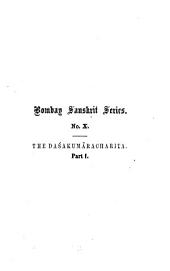 The Daśakumâracharita: Volume 1