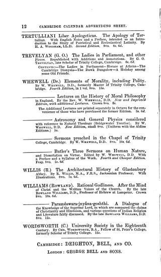 The Cambridge University Calendar for the Year 1876 PDF