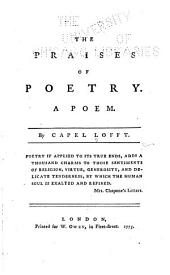 The Praises of Poetry: A Poem