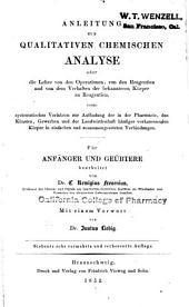 Anleitung zur qualitativen chemischen Analyse ...