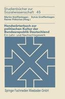 Handw  rterbuch zur politischen Kultur der Bundesrepublik Deutschland PDF