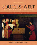 Sources of the West  From the beginning to 1715 Book