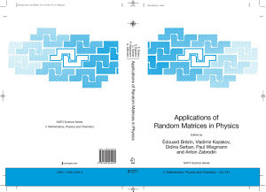 Applications of Random Matrices in Physics PDF