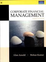 Corporate Financial Management  3 E PDF
