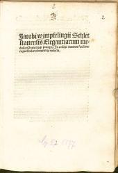 Elegantiarum medulla oratoriaque praecepta