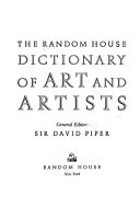 The Random House Dictionary of Art and Artists PDF