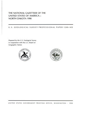 The National Gazetteer of the United States of America