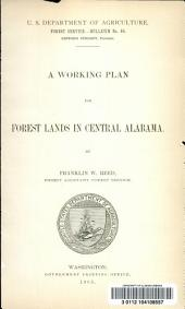 A Working Plan for Forest Lands in Central Alabama