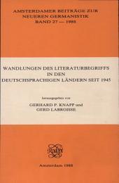 Wandlungen des Literaturbegriffs in den deutschsprachigen Ländern seit 1945