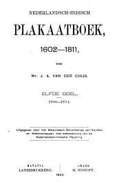 Nederlandsch-Indisch plakaatboek, 1602-1811: Volume 11