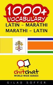 1000+ Latin - Marathi Marathi - Latin Vocabulary