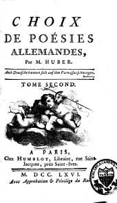 Choix de Poésies Allemandes: Band 2