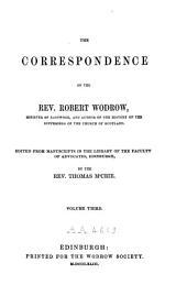 The Correspondence of Robert Wodrow: Volume 3